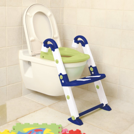 ROTHO Toilettrainer Kidskit 3-in-1 blue, wit, groen