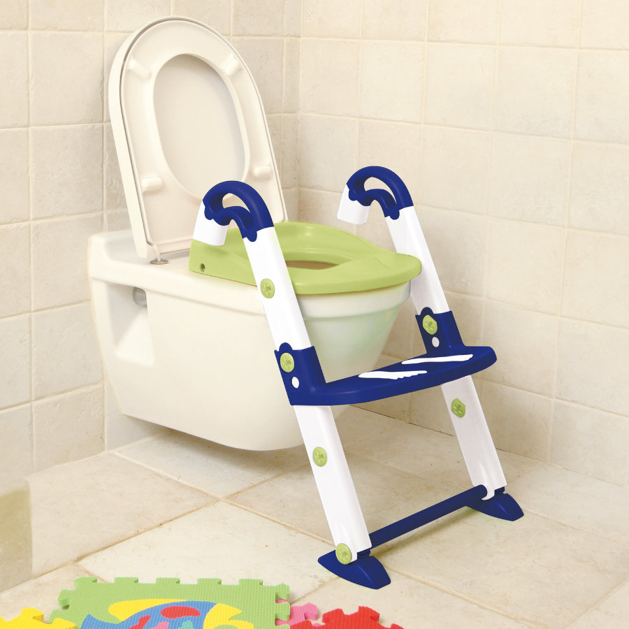 Rotho Babydesign Toilettentrainer Kidskit 3-in-1 blue, weiß, lindgrün