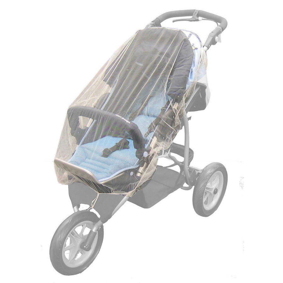 REER Mosquito Cover for Twin Buggy & Jogger white