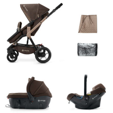 CONCORD Buggy Wanderer Travel-Set Chocolate Brown