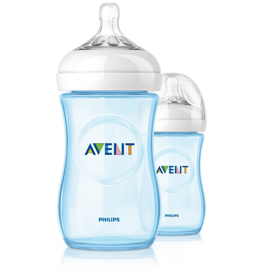 AVENT Bottle 260ml blue Double Pack