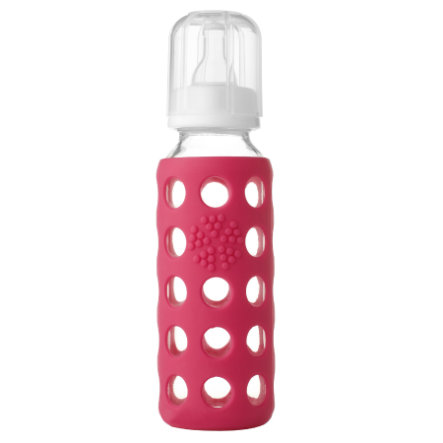 "LIFEFACTORY Nappflaska Glas  ""raspberry"" 250ml"