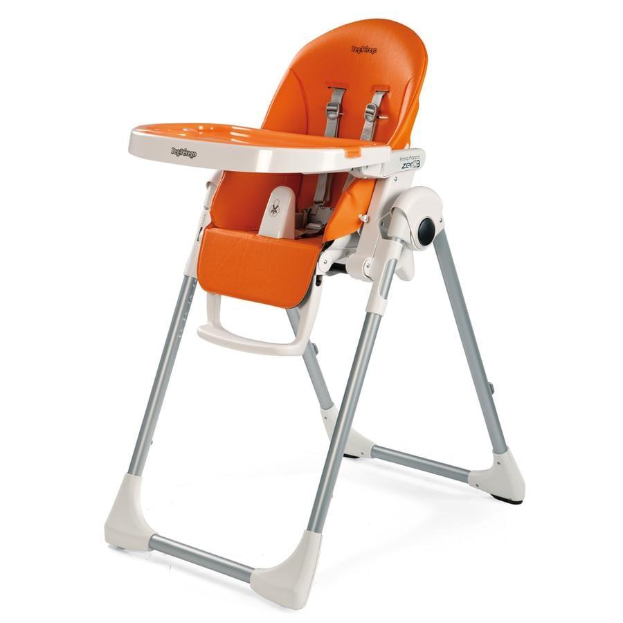 Peg p rego chaise haute prima pappa zero3 arancia for Chaise haute prima pappa peg perego