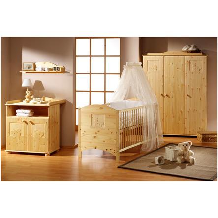 Schardt Chambre d'enfant lit, armoire 3 portes Dream naturel