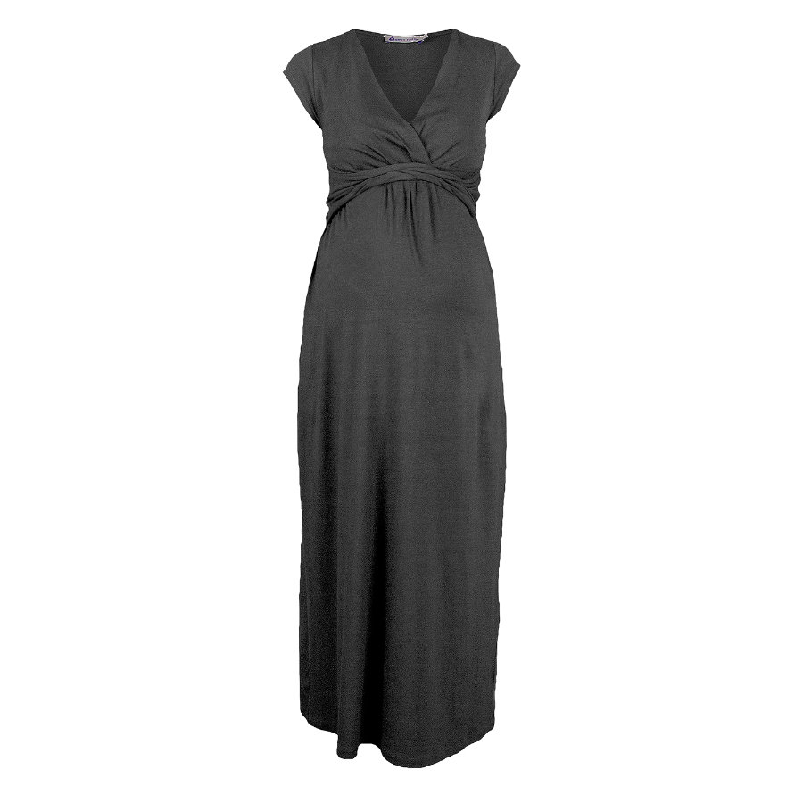 QUEEN MUM Vestito premaman dark grey