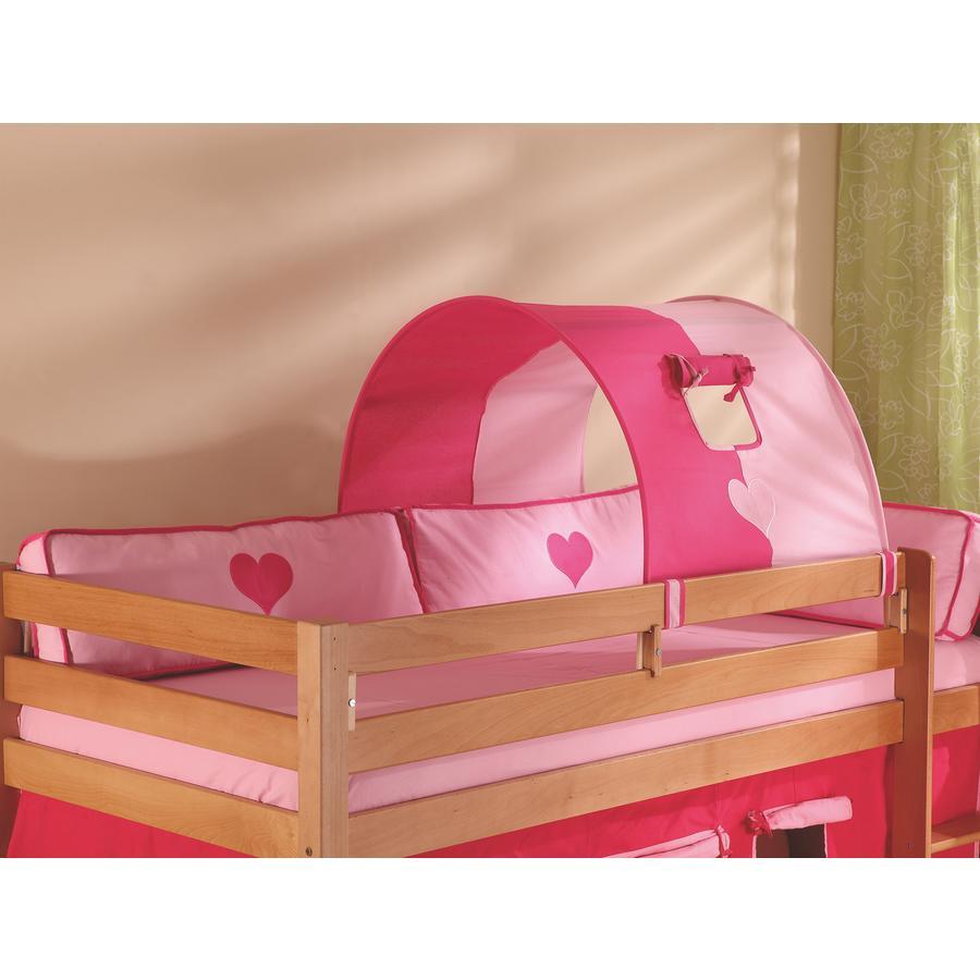 Relita 1er Tunnel zu Hoch- und Etagenbetten pink / Herz