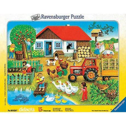 RAVENSBURGER Puzzle cadre Qui va avec quoi ? 15 pièces