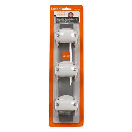 LASCAL Kiddy Guard  Monteringssats för trappräcke för  låslist - vit