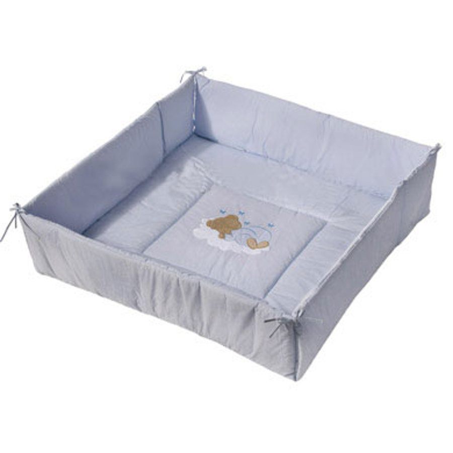 Easy Baby Playpen Liner Sleeping Bear Blue