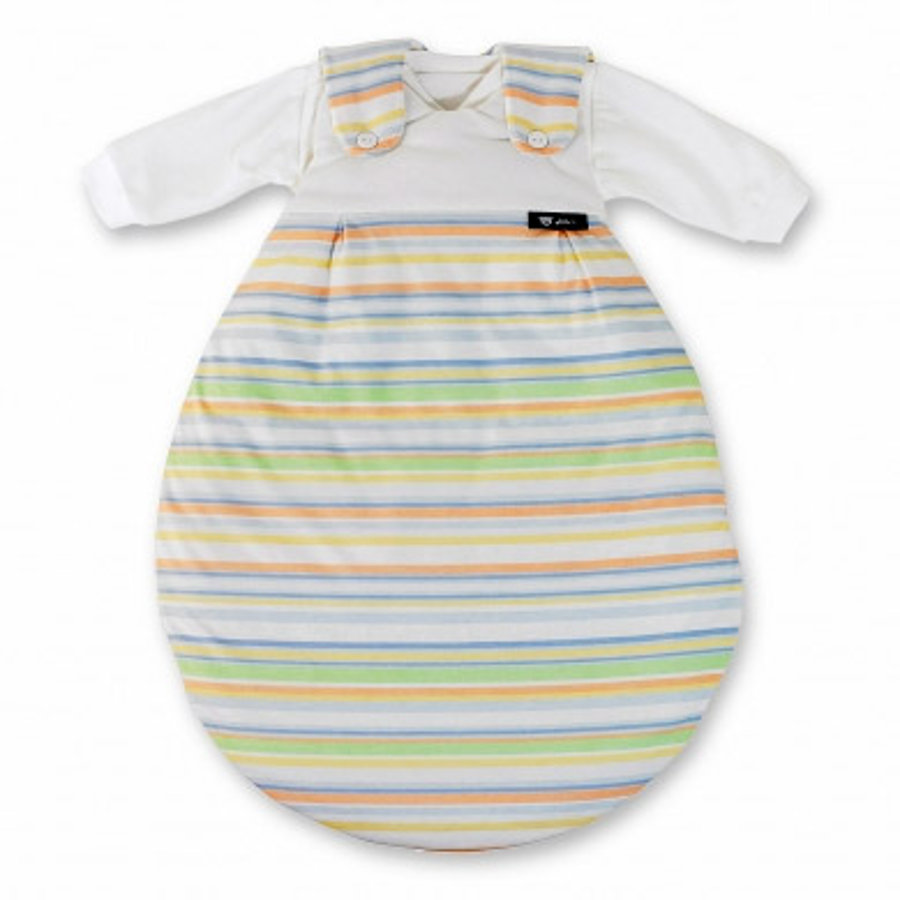 ALVI 2 Piece Baby Mäxchen Sleeping Bag System - colored Stripes blue (118/0) Size: 44 cm