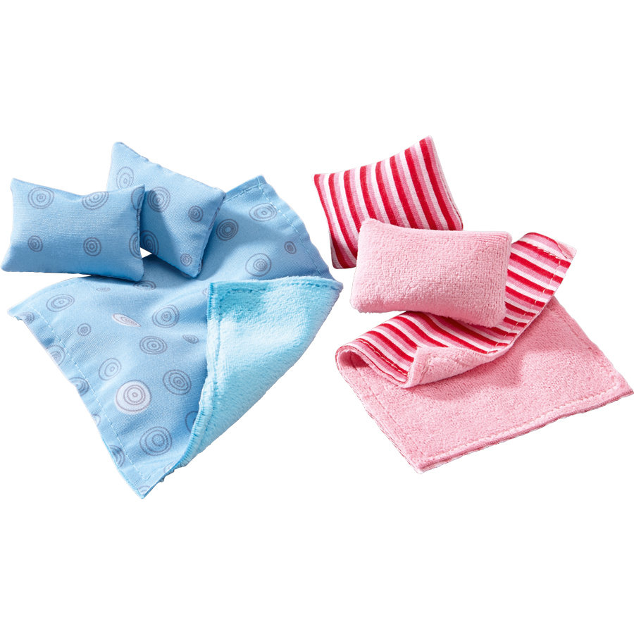 HABA Accessori per casa delle bambole Little Friends: Cuscini & coperte 300500