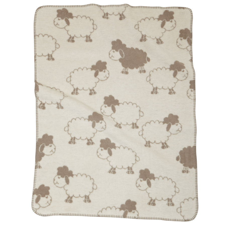 ALVI Baby Blanket with linking border Sheep