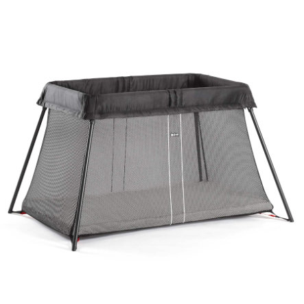 BABYBJÖRN Travel Cot Light, Black including Mattress