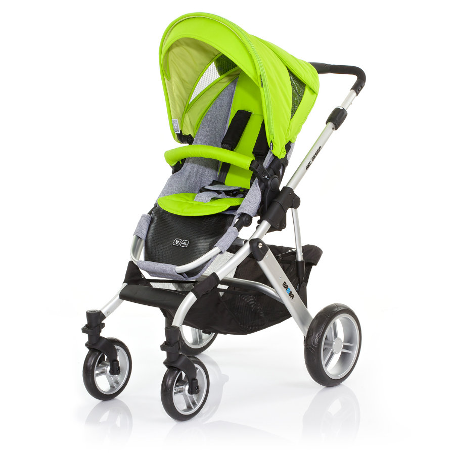 ABC DESIGN Combi Stroller Mamba lime Frame silver / graphite Collection 2015