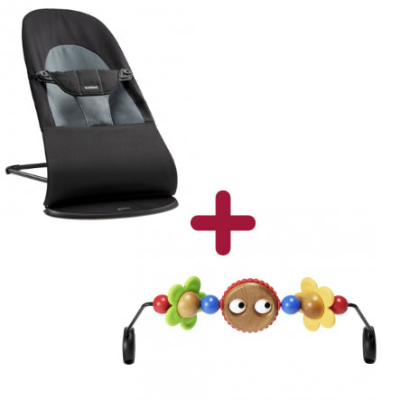BABYBJÖRN Transat bébé Balance Soft et arche de jeux en bois