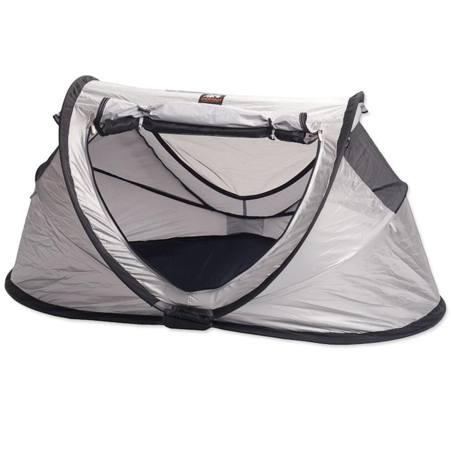 Deryan Reisbed/Tent Travel Cot Peuter zilver