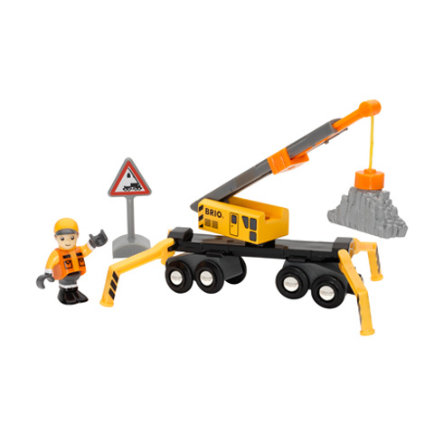 BRIO Mega Crane Set with Figure