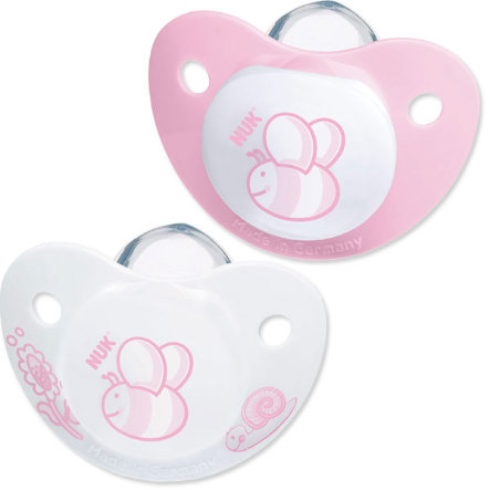 NUK BABY ROSE SILICONE SOOTHER SIZE 1