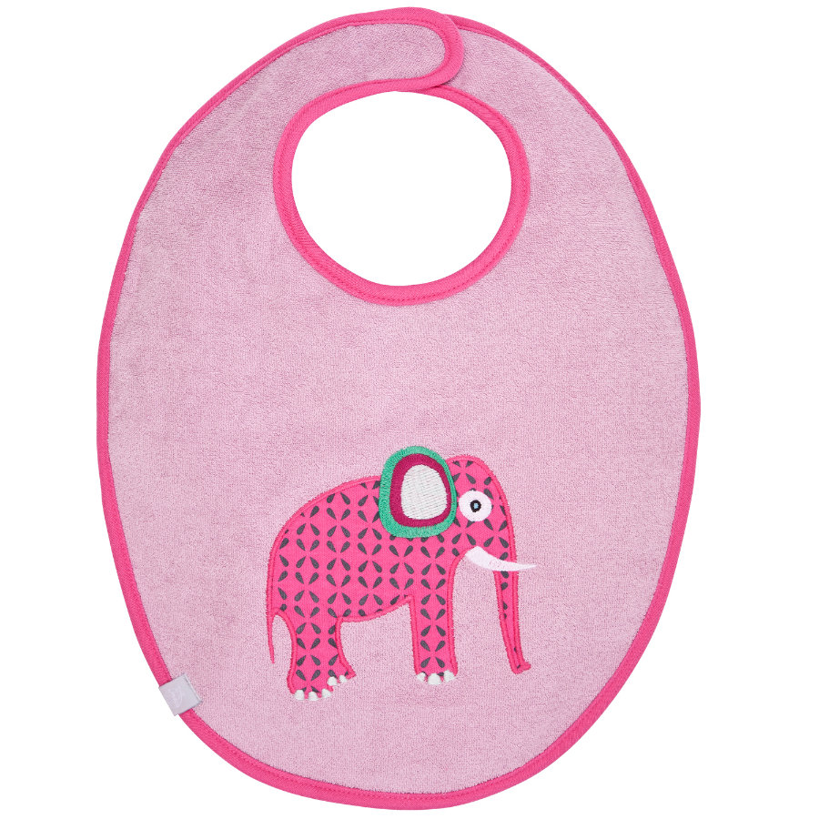 LÄSSIG Waterproof Bib medium, Wildlife Elephant