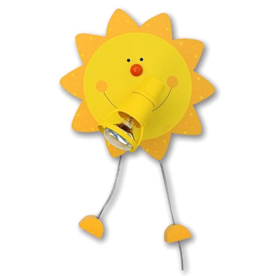 WALDI Lampa na ścianę Słoneczko kolor żółty