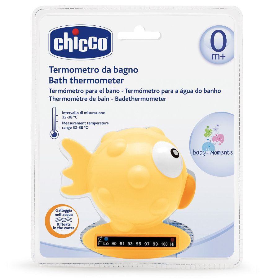 CHICCO Thermomètre de bain Poisson, Orange