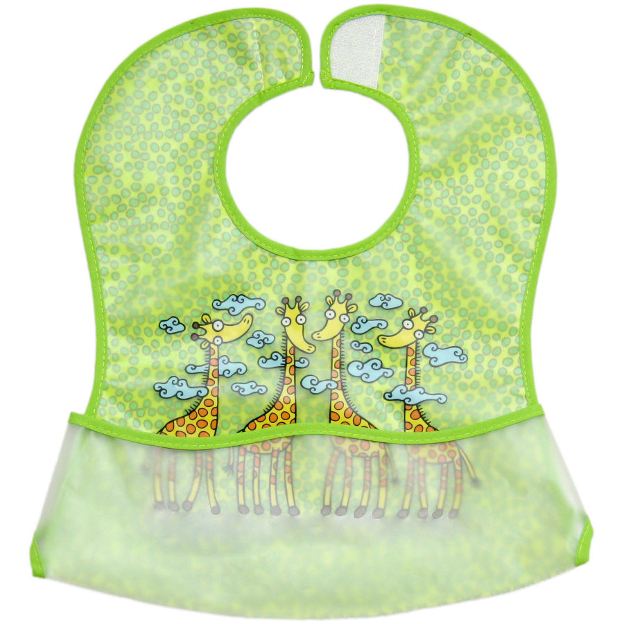 Fillikid Bib Giraffe, 2 pieces - green