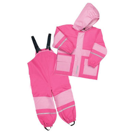 PLAYSHOES Girls Tuta Parapioggia, colore pink/rose