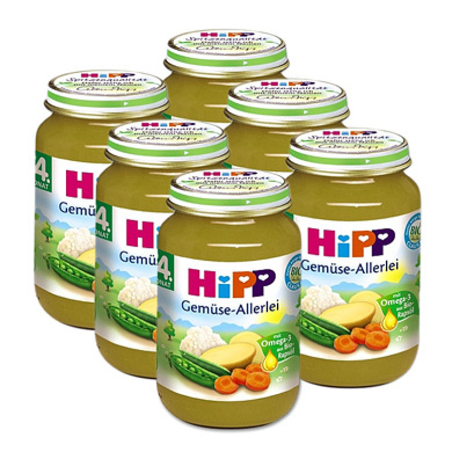 HiPP Bio Gemüse Allerlei 6 x 190 g