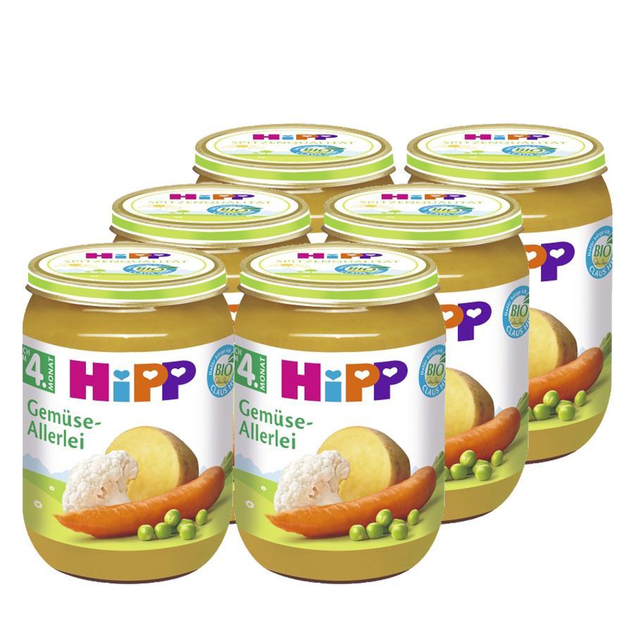 HIPP Bio Mixed Vegetables, 6 x 190g