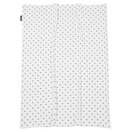 ALVI Babydecke Jersey Dots grau 75 x 100 cm
