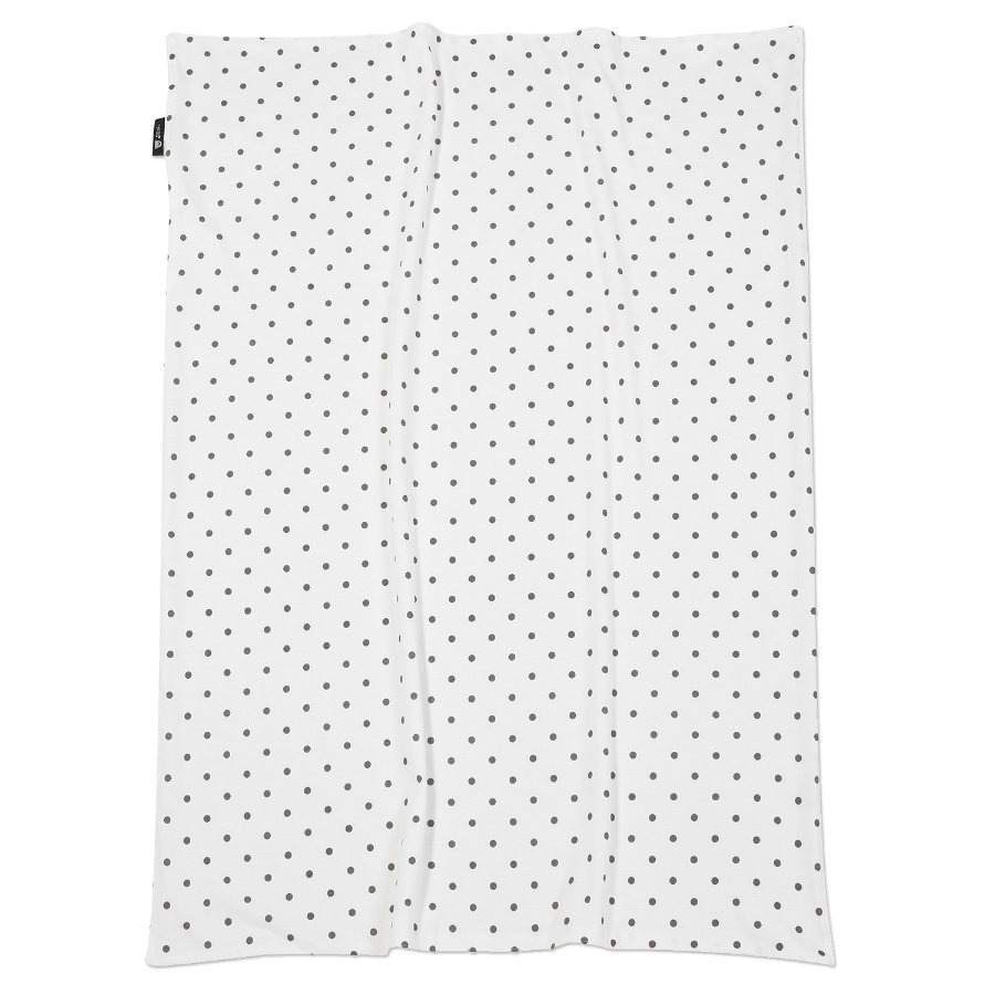 ALVI Baby Blanket Jersey Dots grey 75 x 100 cm