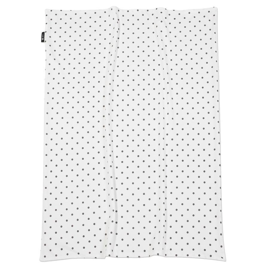 ALVI Babydeken Jersey Dots grijs 75 x 100 cm