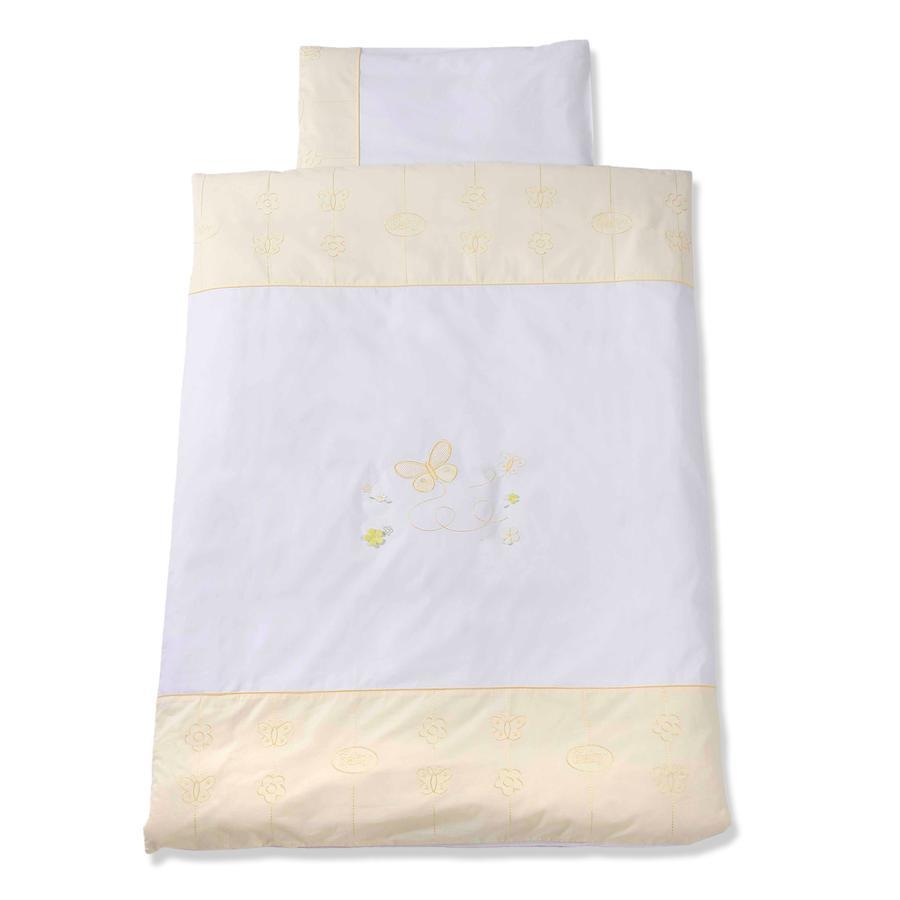 Easy Baby Sängkläder 100 x 135 cm Butterfly Yellow (410-86)