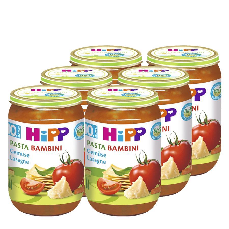 HIPP Bio Pasta Bambini Gemüse-Lasagne 6 x 220g