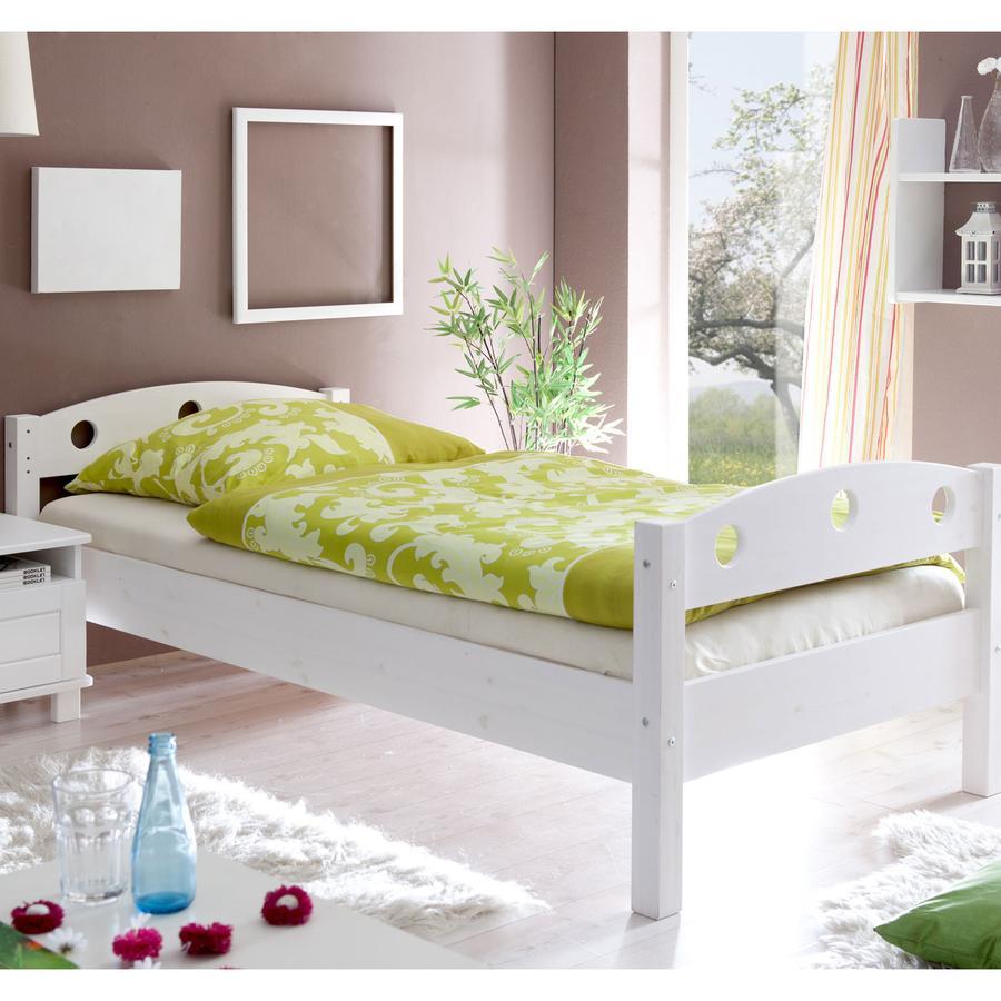 TiCAA Einzelbett Rena weiß 90 x 200 cm