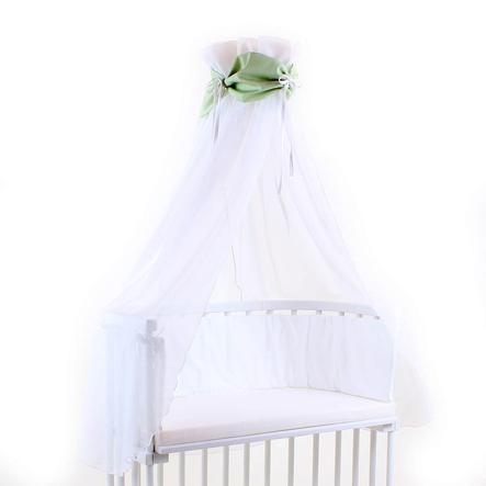babybay Himmelstoff grün/weiß 200 x 135 cm