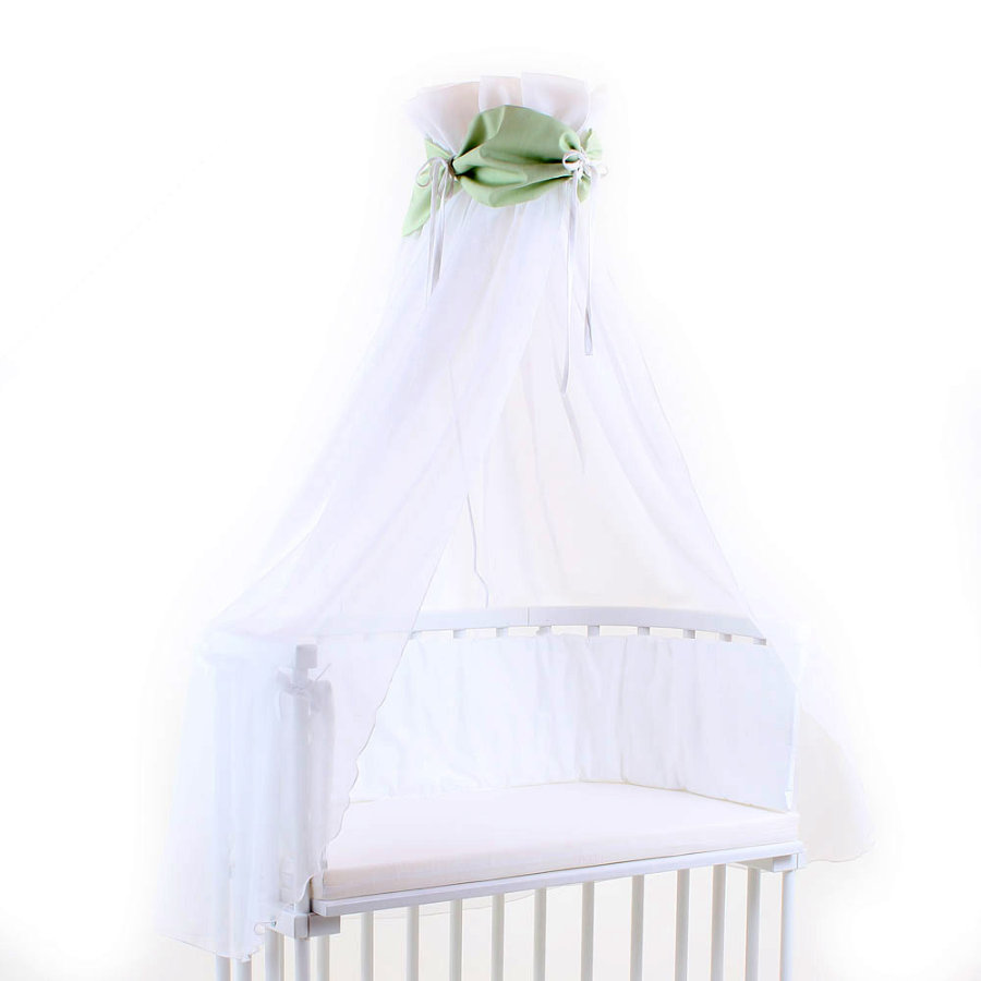 TOBI BABYBAY Stoffa Baldacchino verde/bianco