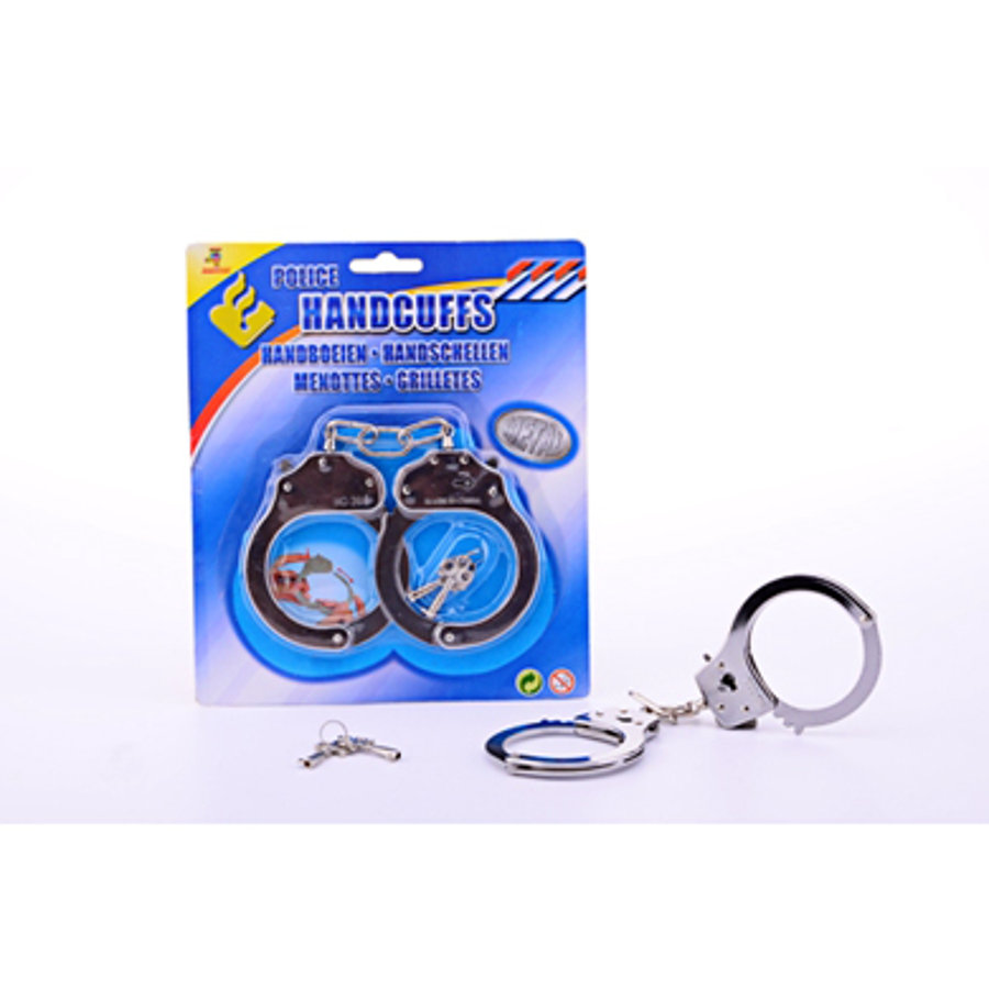 JOHNTOY Metal Handcuffs