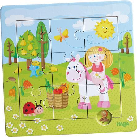 HABA Drewniane puzzle w ramce Ogród wróżek 301470