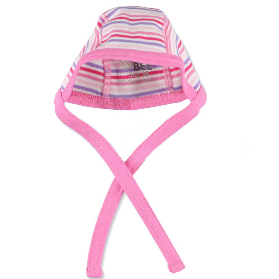 FIXONI Preemie Girls Hat STRIPES pink