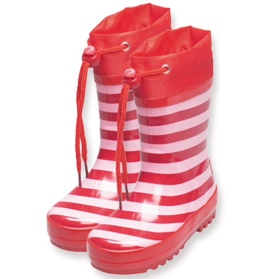PLAYSHOES Girls Rubber Boots stripes light pink/red