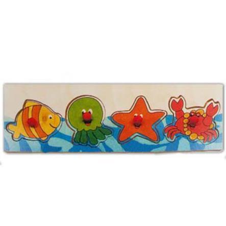 HESS Drewniana układanka dla dzieci Morskie zwierzaki