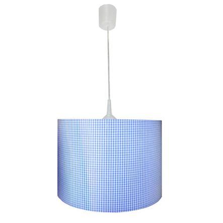 WALDI Závěsné světlo Vichy kárované, světle modré