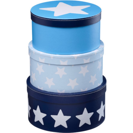 KIDS CONCEPT Storage Box Star, blue Set of 3
