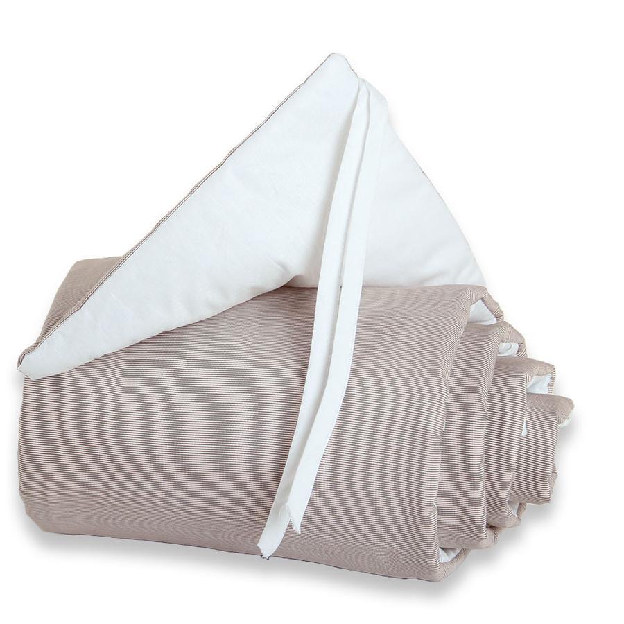 babybay Tour de lit Maxi, brun/blanc, 25 x 168 cm