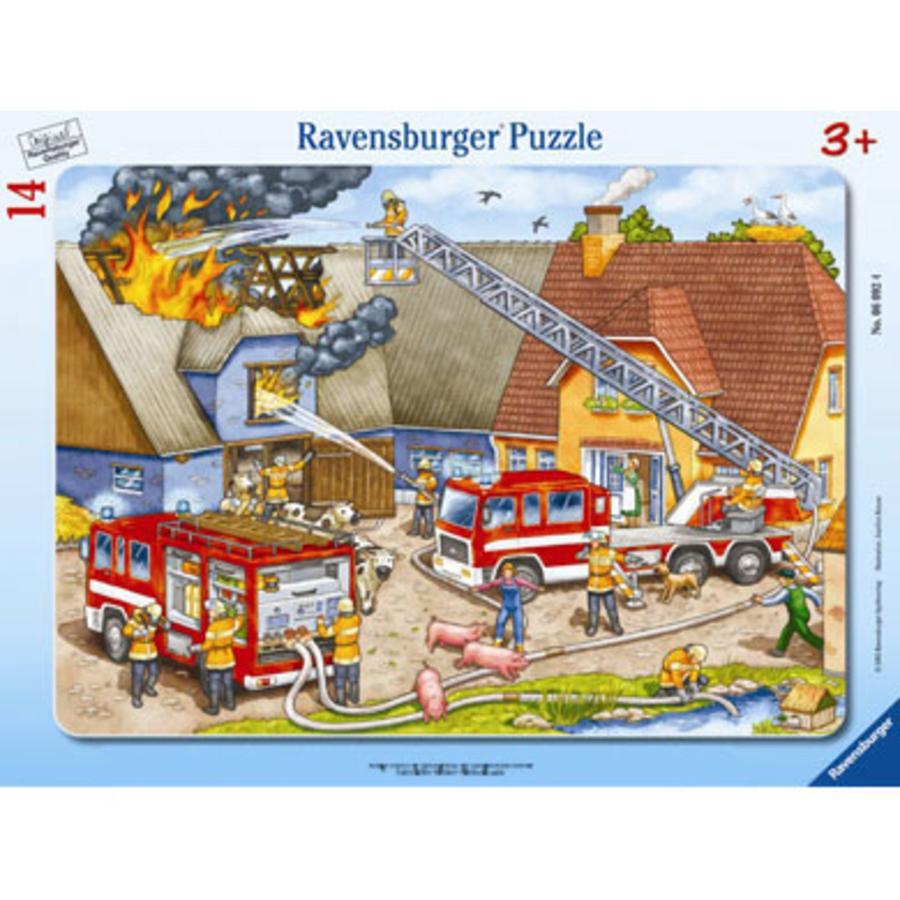 RAVENSBURGER Puzzel Brandweer Blusactie 14 stukjes