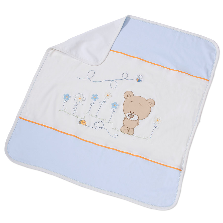 Easy Baby Couverture 75x100cm Honey bear bleu (462-41)