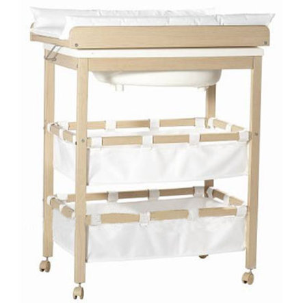 Roba table langer baignoire combinable baby pool nature - Baignoire table a langer ...