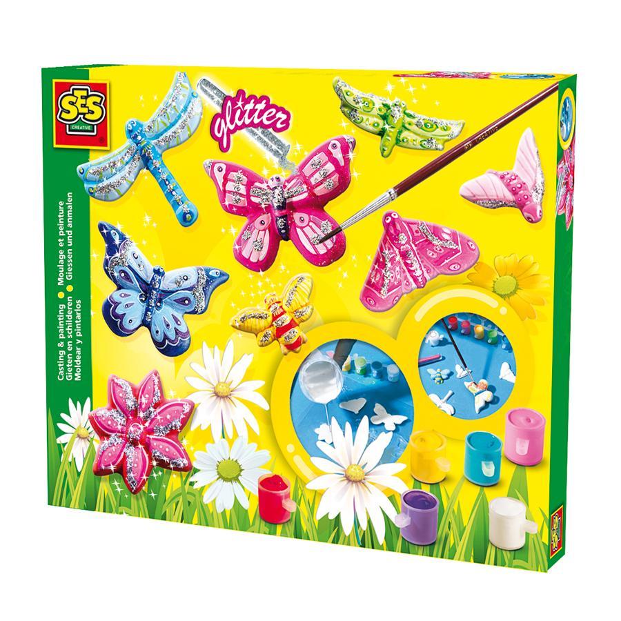 SES Creative Lav-selv-sommerfugle med glimmer
