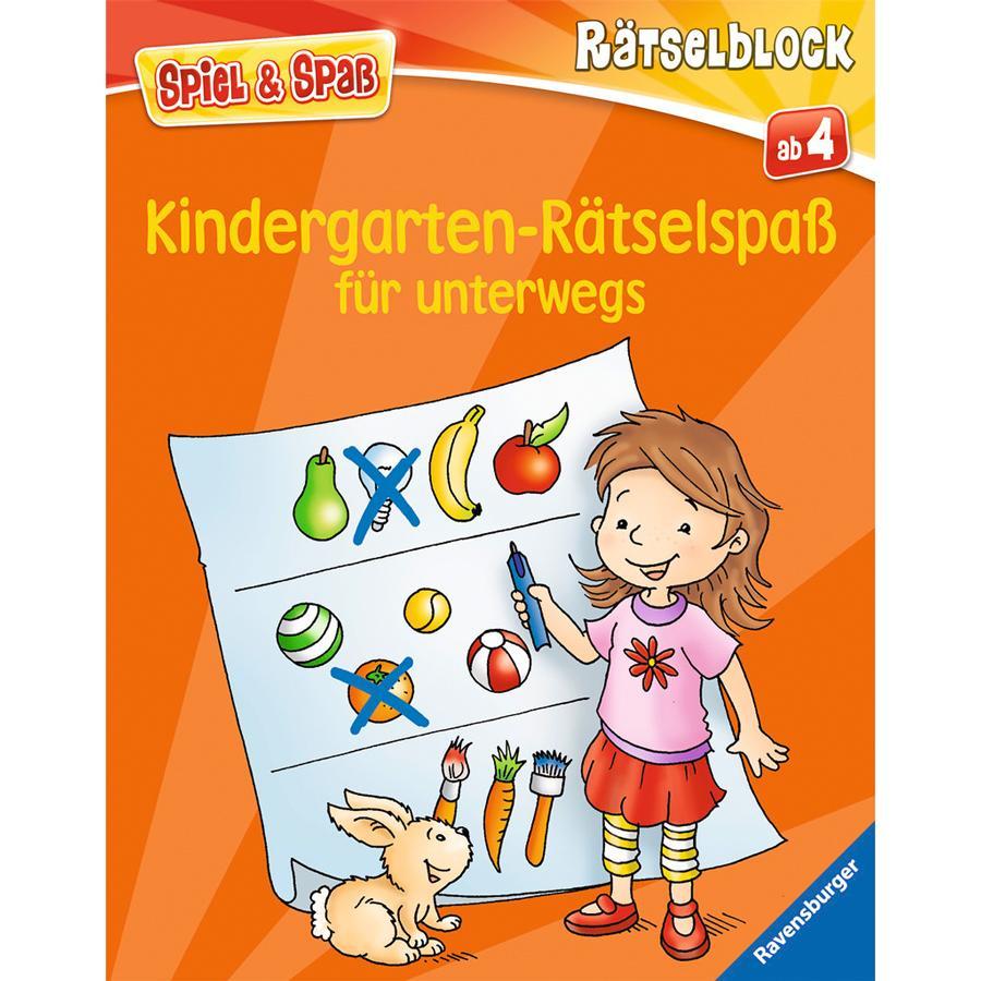 RAVENSBURGER Spiel & Spaß - Rätselblock: Kindergarten-Rätselspaß für unterwegs